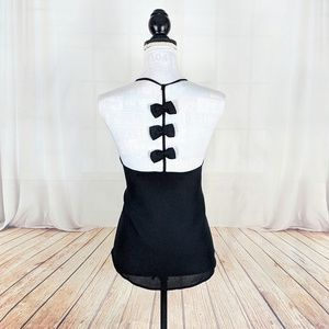 New Sexy Black Bow T back Camisole Top